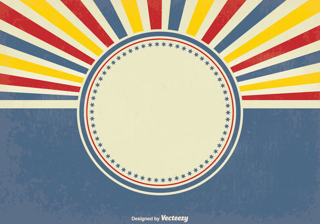 632x443 Retro Style Sunburst Vector Background Free Vector Download 349697