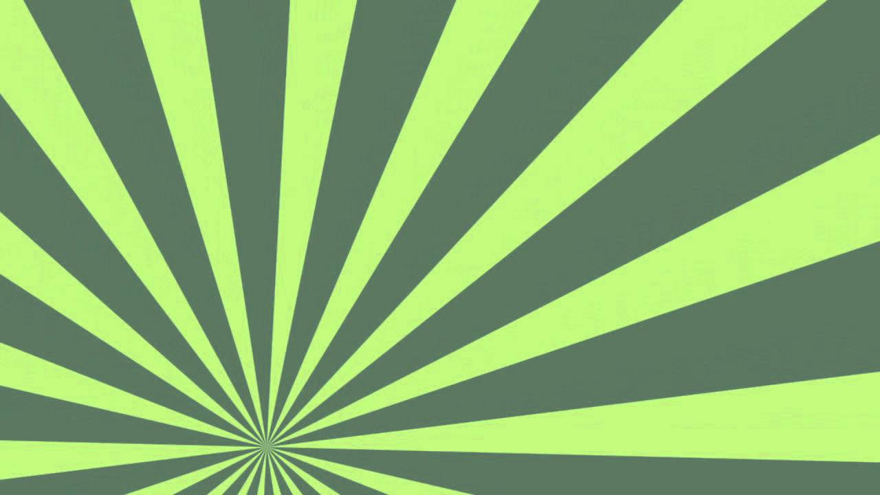 1280x720 Rotating Sunburst Rays Shades Of Green
