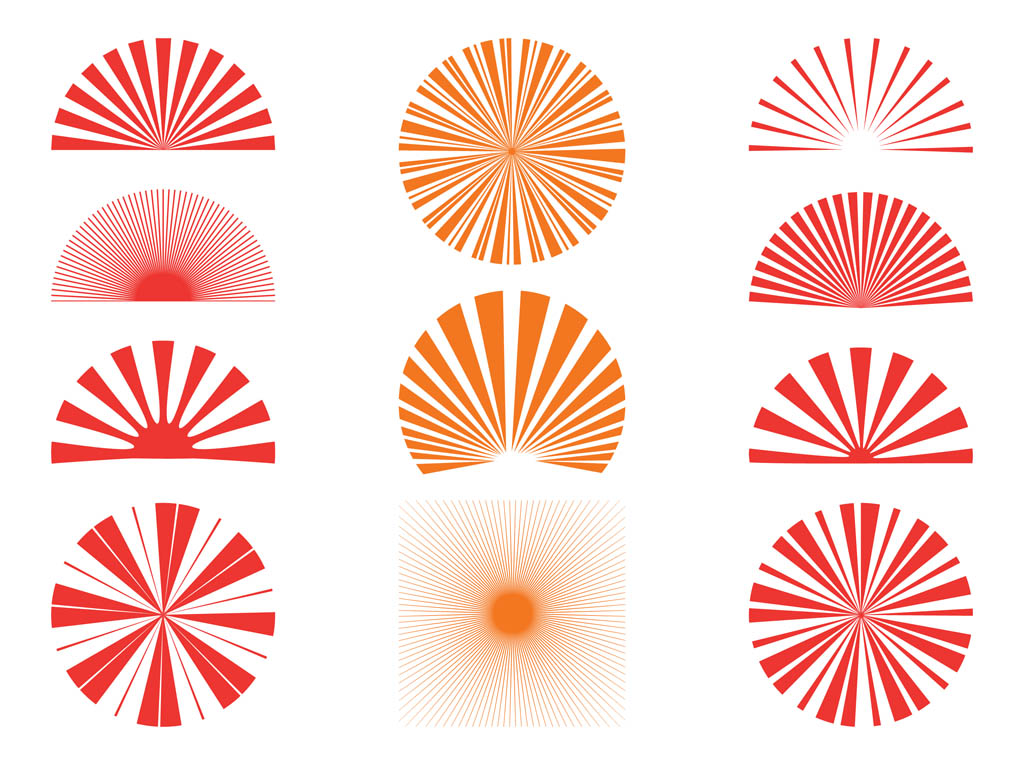 1024x765 Sunburst Patterns Set Free Vectors Ui Download