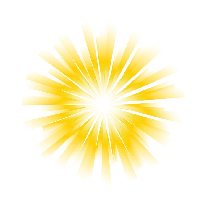 700x700 Sunburst Vector Background Wall Mural We Live To Change