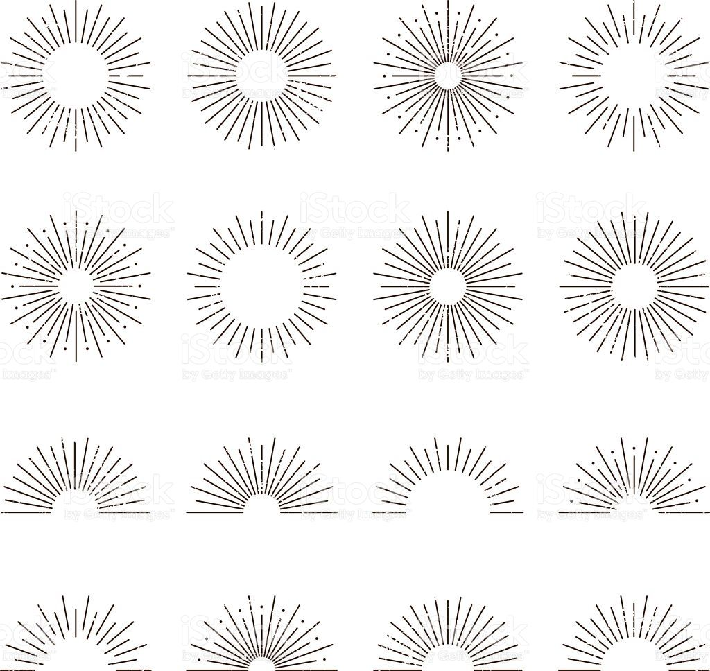 1024x968 A Set Of Different Aged Retro Vintage Sunburststarburst Icons