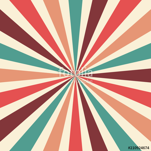 500x500 Retro Sunburst Background Vector Pattern With A Vintage Color
