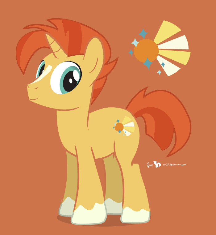 700x760 Sunburst Pony Illustrator Test By Dm29