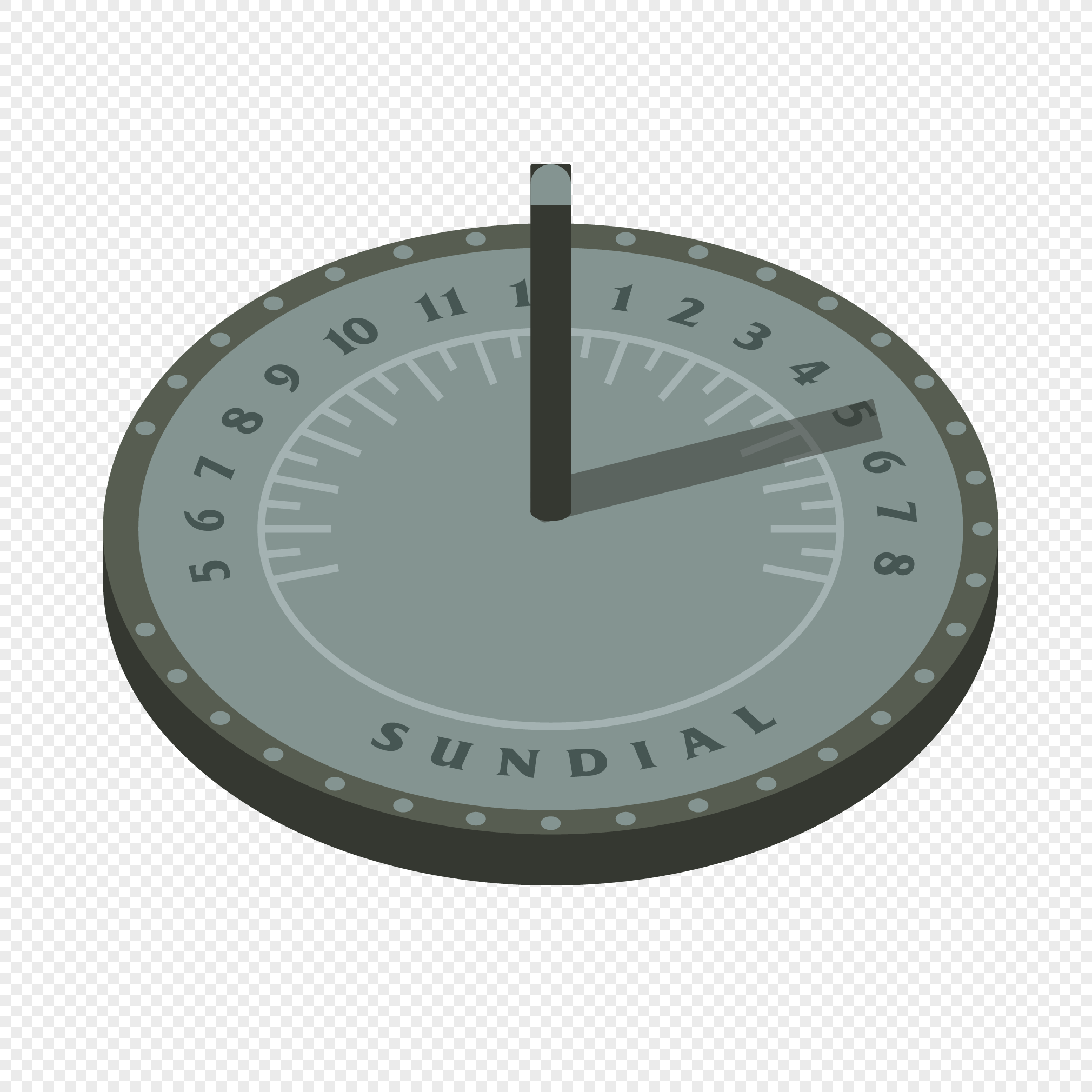 2020x2020 Vector Ancient Shape Sundial Png Image Picture Free Download