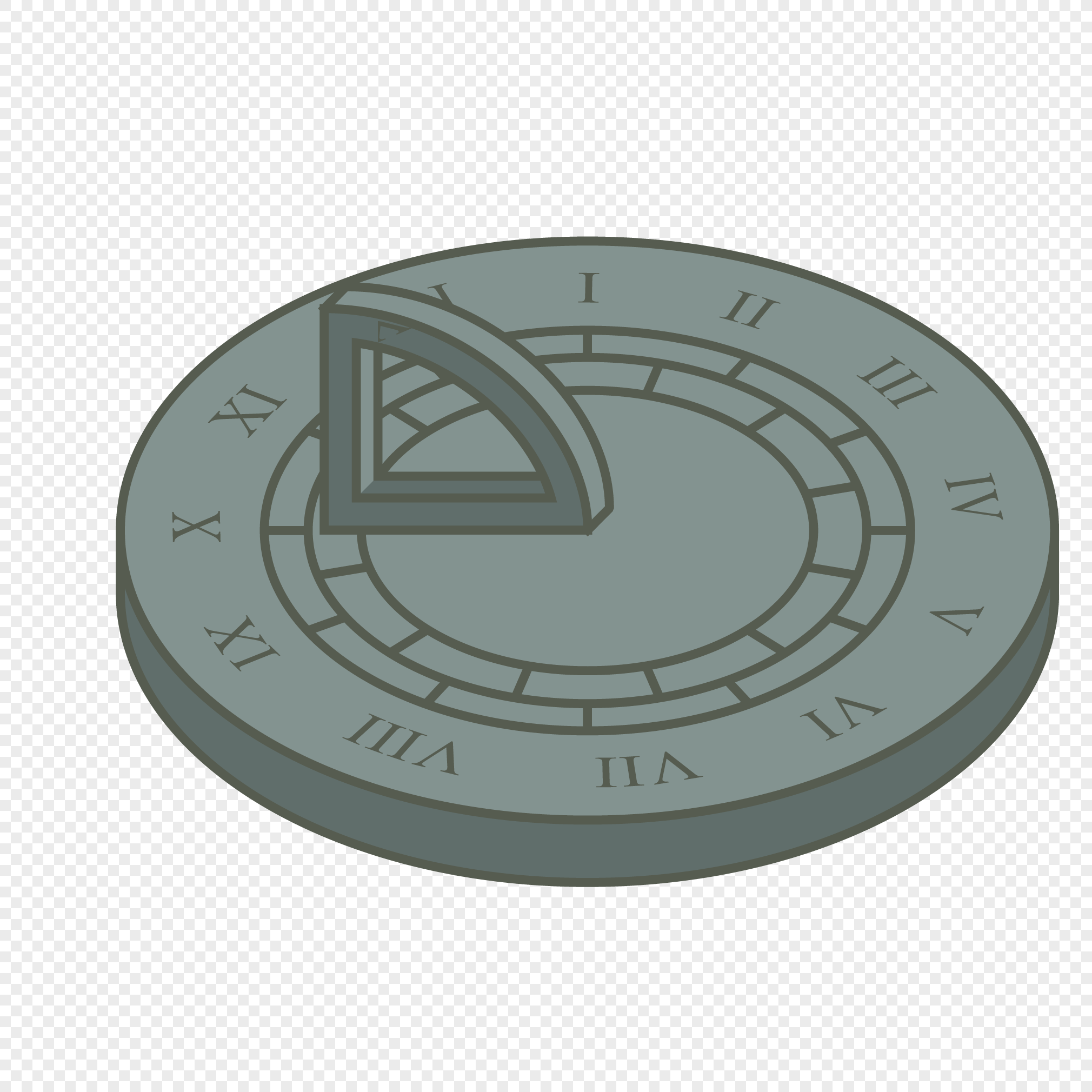 2020x2020 Vector Sundial With Various Shapes In Ancient Times Png