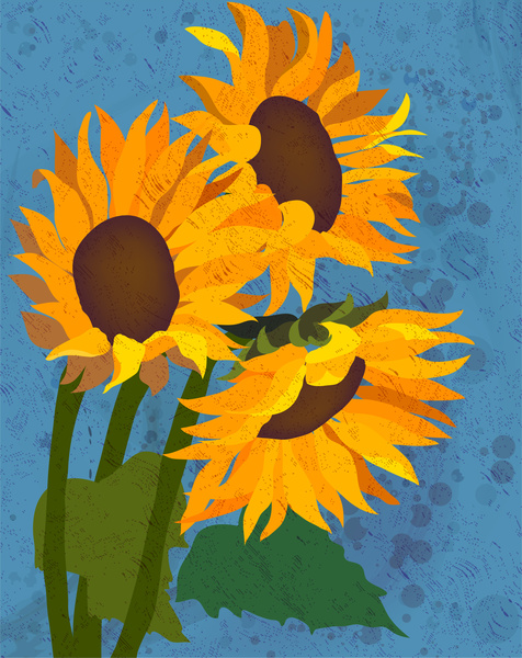 476x600 Watercolor Drawing Sunflower Picture Free Vector In Adobe