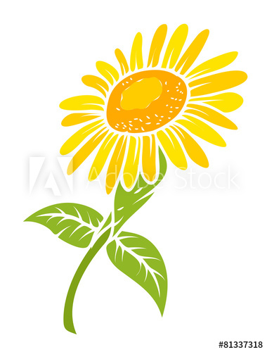 380x500 Sunflower Vector Design