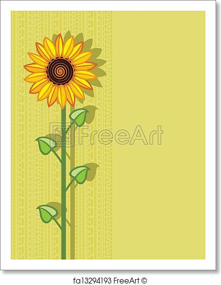 450x580 Free Art Print Of Vector Sunflower . Vector Sunflower Background