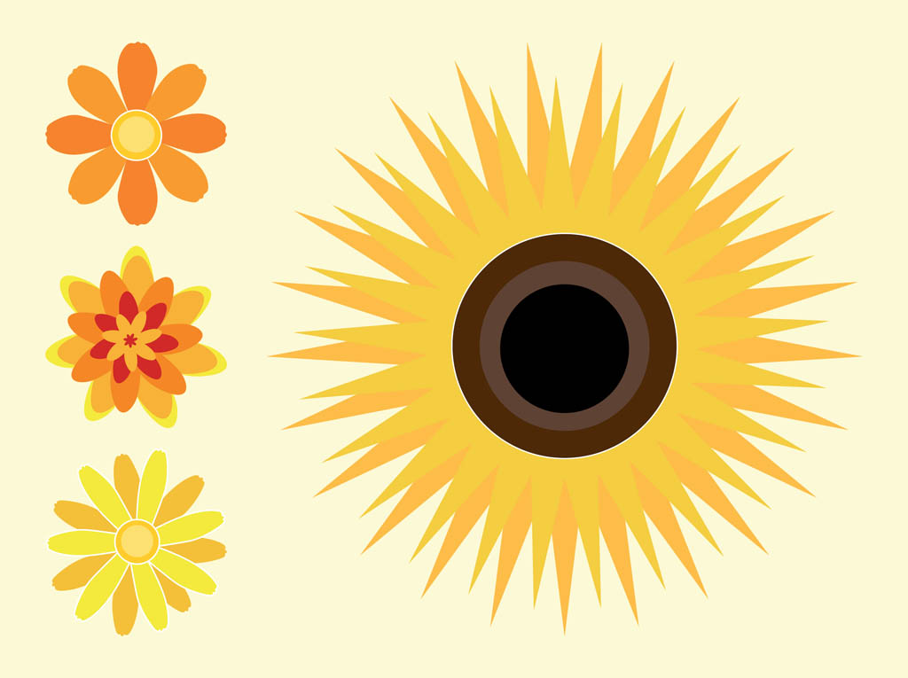 1024x765 Sunflowers Vector Art Amp Graphics