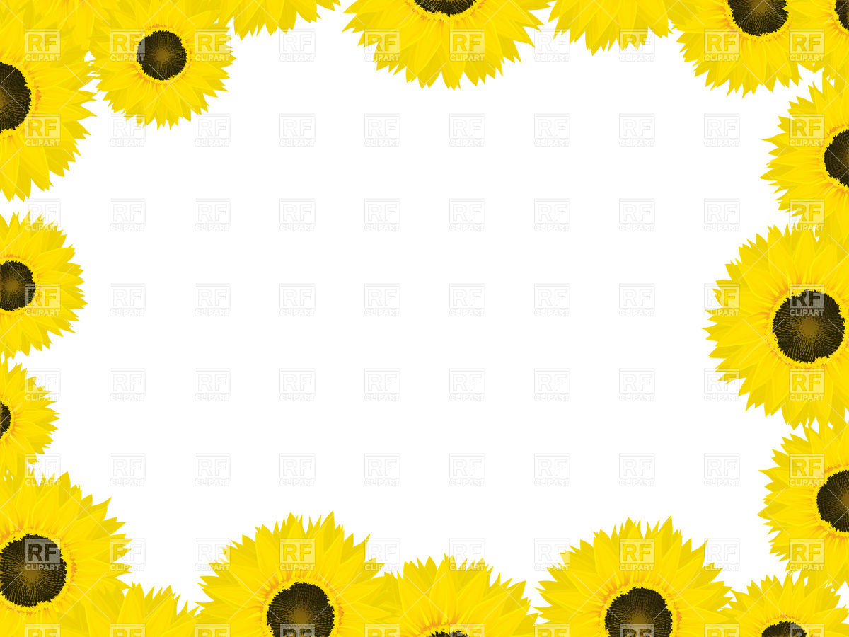 1200x900 Sunflowers Frame Design Vector Image Vector Artwork Of