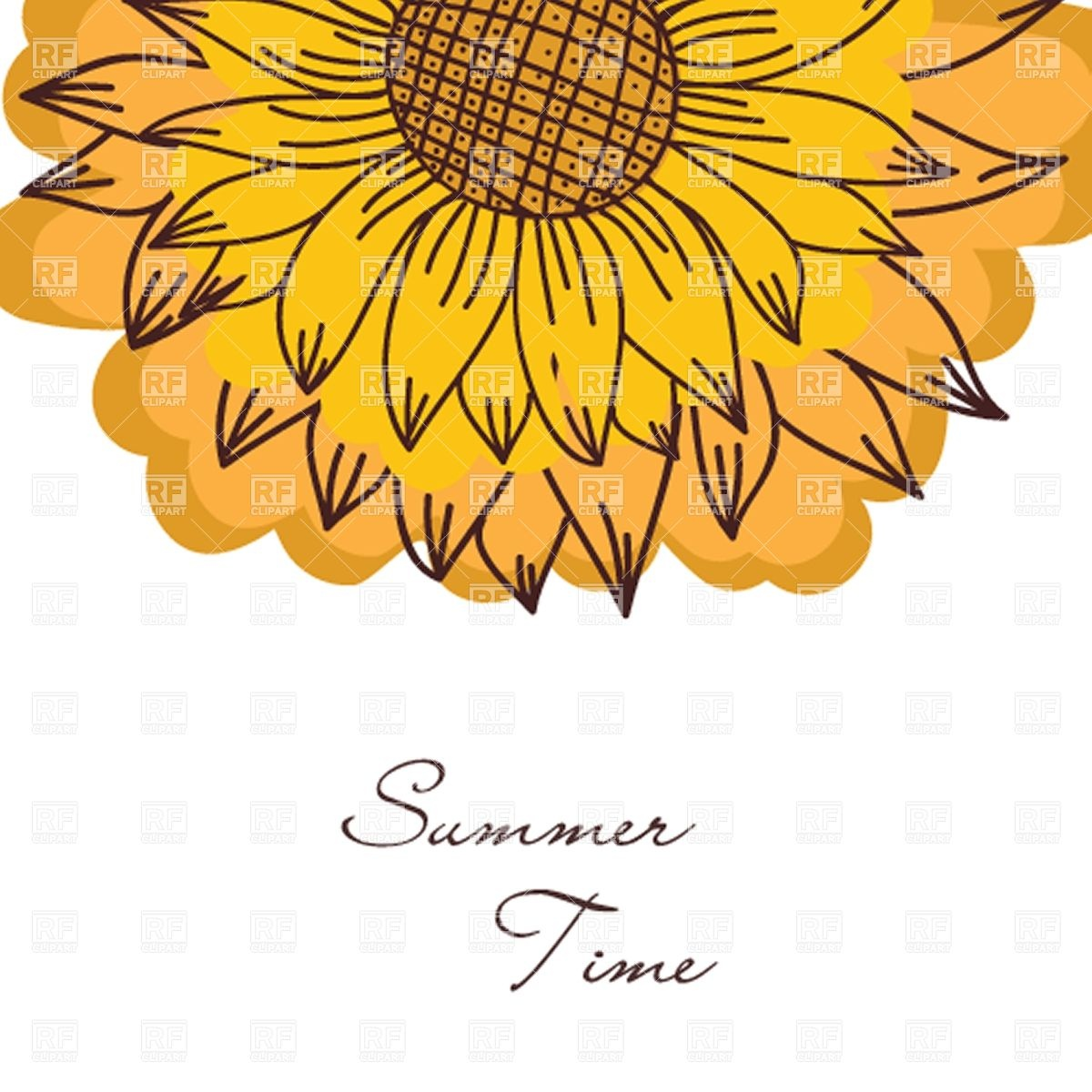 1200x1200 Vintage Background With Sunflower Vector Image Vector Artwork Of