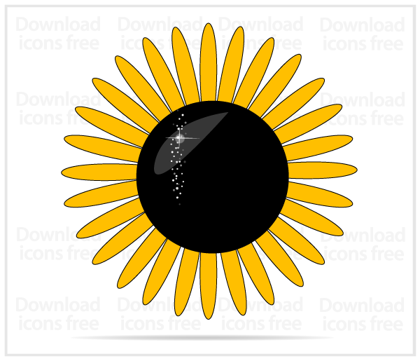 600x515 Yellow Sunflower Vector Art 123freevectors