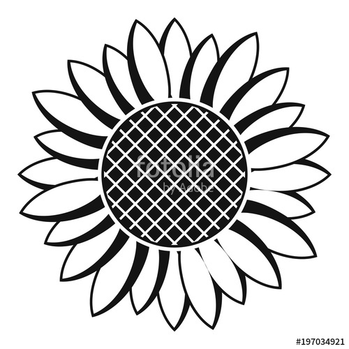 500x500 Nice Sunflower Icon. Simple Illustration Of Nice Sunflower Vector