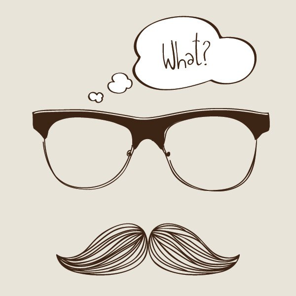 600x600 Hipster Clipart Sunglasses Vector