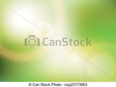 450x338 Eco Background With Sunlight. Vector. Template Design.