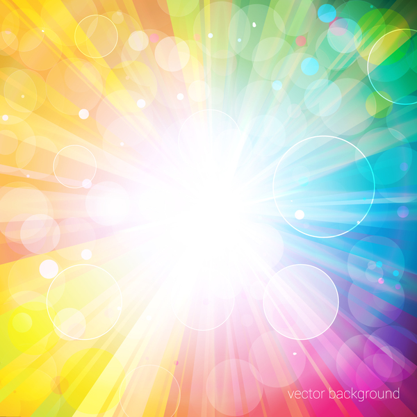 600x600 Colorful Bokeh Background And Sunlight Vectors Free Download