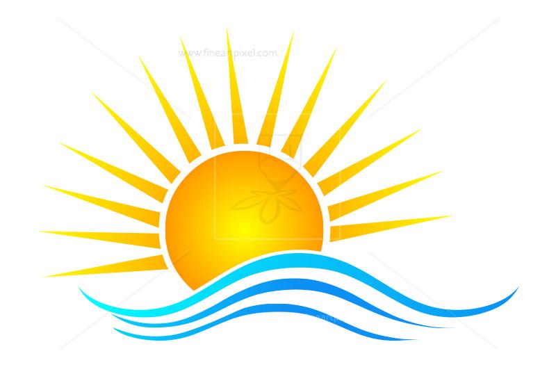 800x525 Sun Rise Vector Illustrated Icon Free Vectors, Illustrations