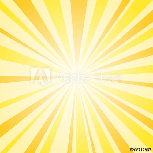 500x500 Sunburst Background, Yellow Sunrise Vector Illustration