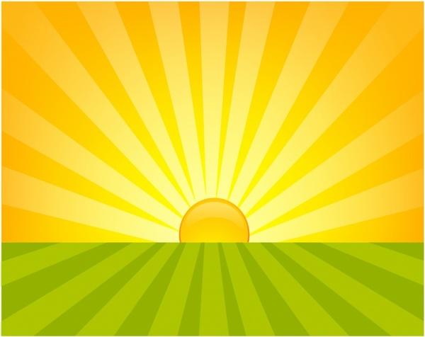 600x476 Sunrise Free Vector In Adobe Illustrator Ai ( .ai ), Encapsulated