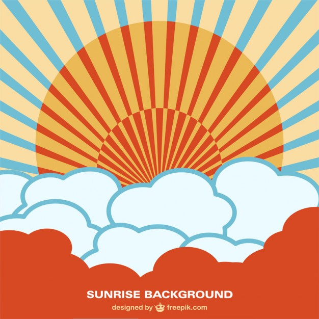 626x626 Chinese Style Sunrise Background Vector Free Download