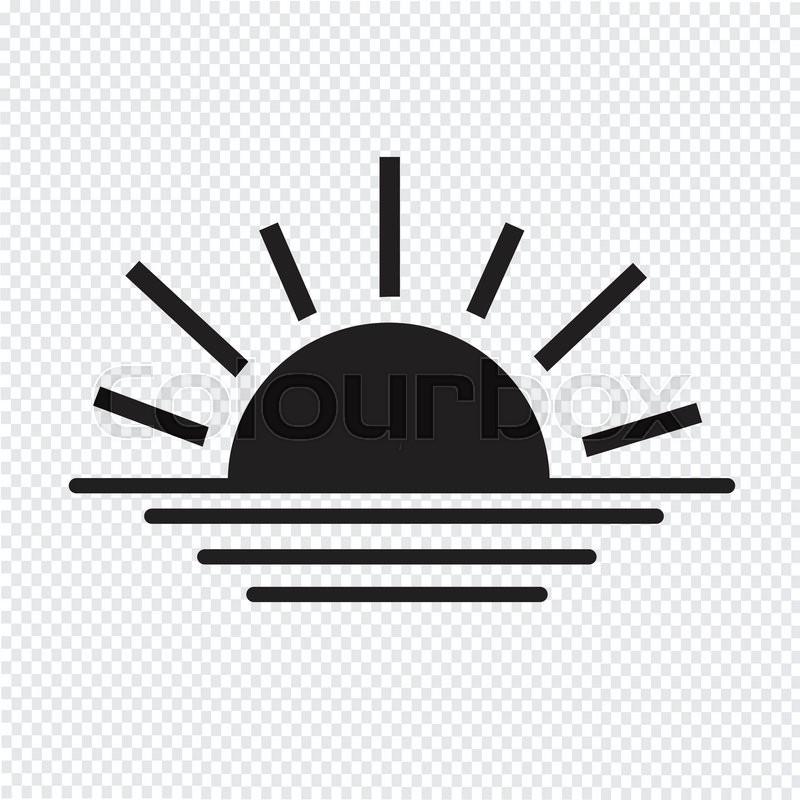 800x800 Sunrise Sunset Line Icon Stock Vector Colourbox
