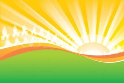 400x268 Sunrise Vector Background