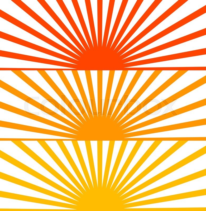 781x800 Vector Flat Red Set Sun Sunrise Sunset Stock Vector Colourbox