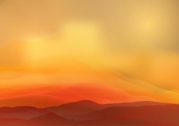 600x423 Mountain Sunrise Landscape Nature Background Vector 04 Free Download