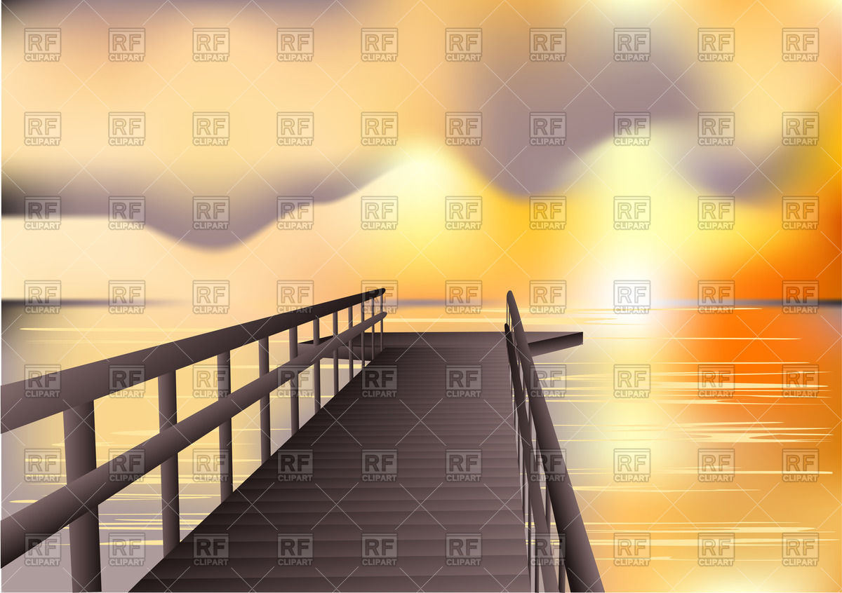 1200x846 Jetty Sunrise Vector Image Vector Artwork Of Backgrounds