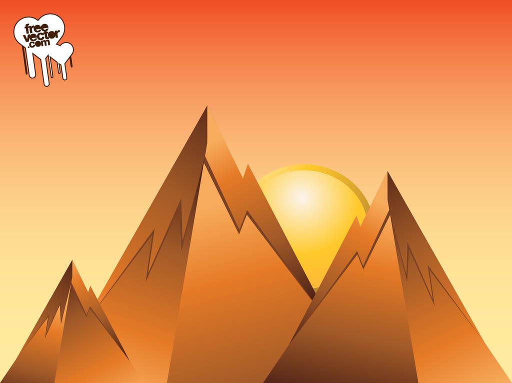 1024x765 Mountain Sunrise Design Vector Art Amp Graphics