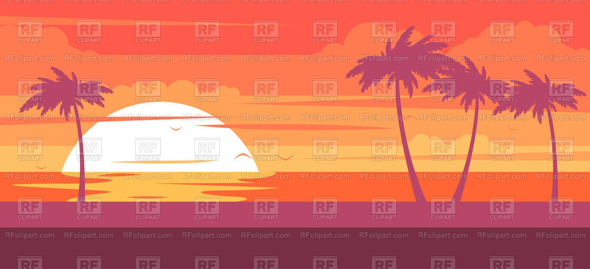 1200x547 Tropical Beach With Palm Trees And Sea