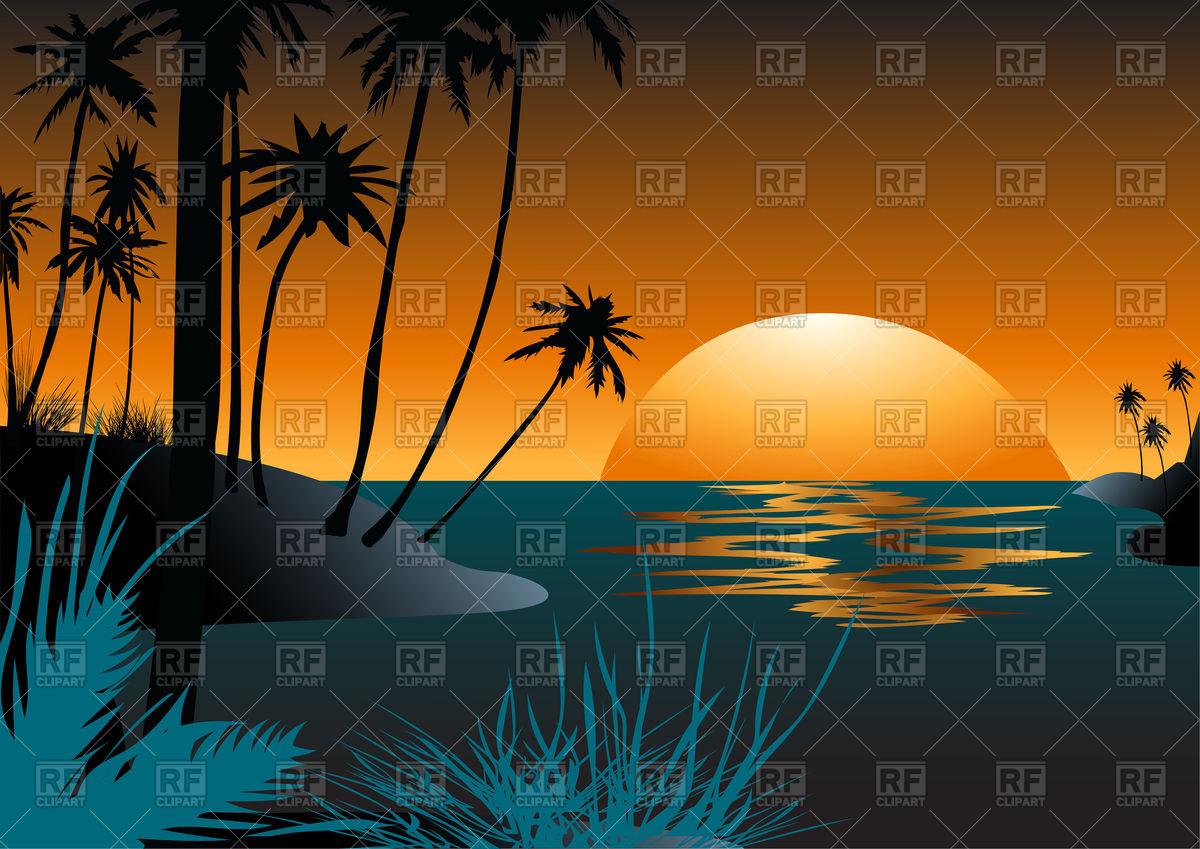 1200x849 Hawaiian Beach With Palm Trees
