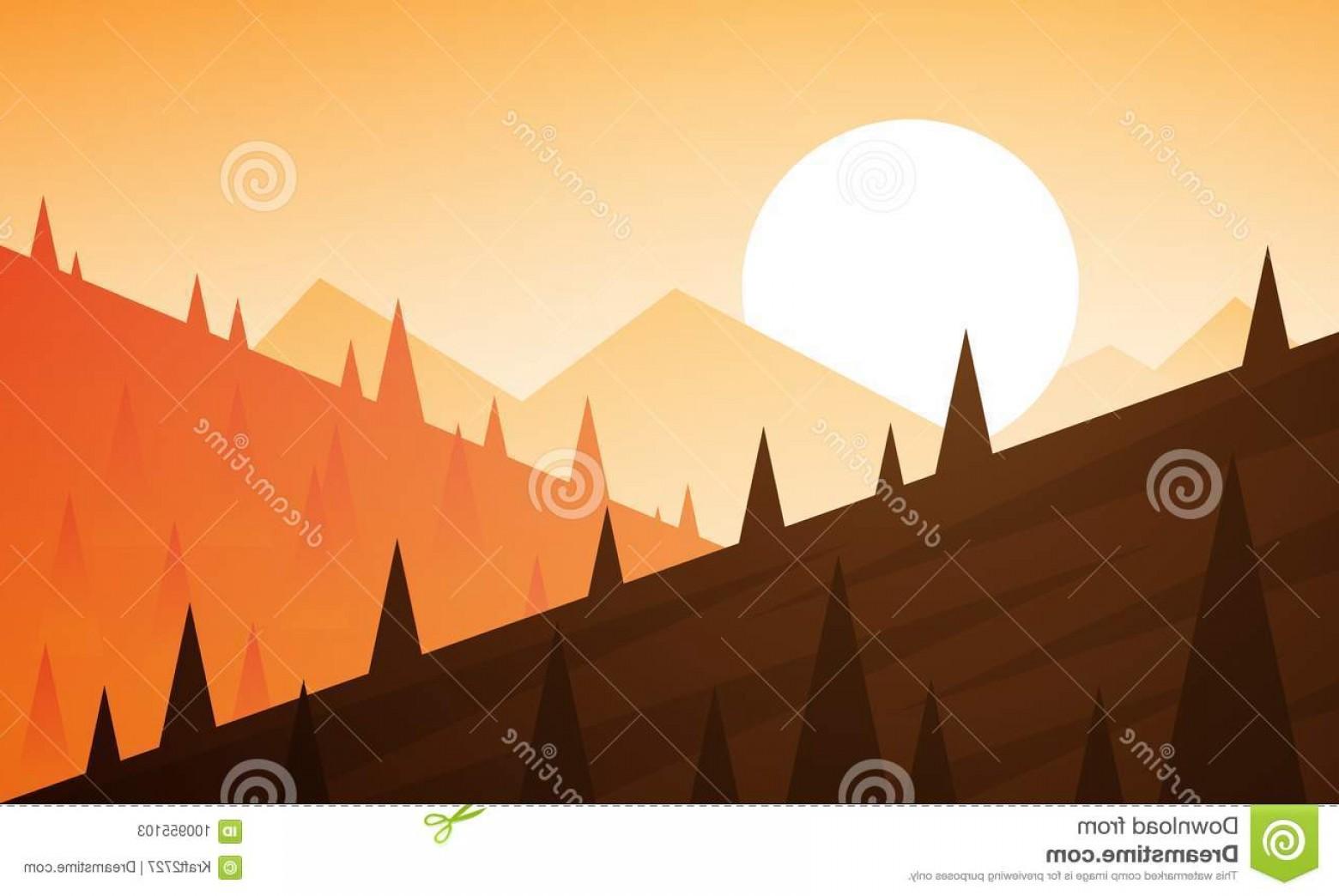 1560x1044 Landscape Graphic Mountains Sunset Landscape Graphic Mountain