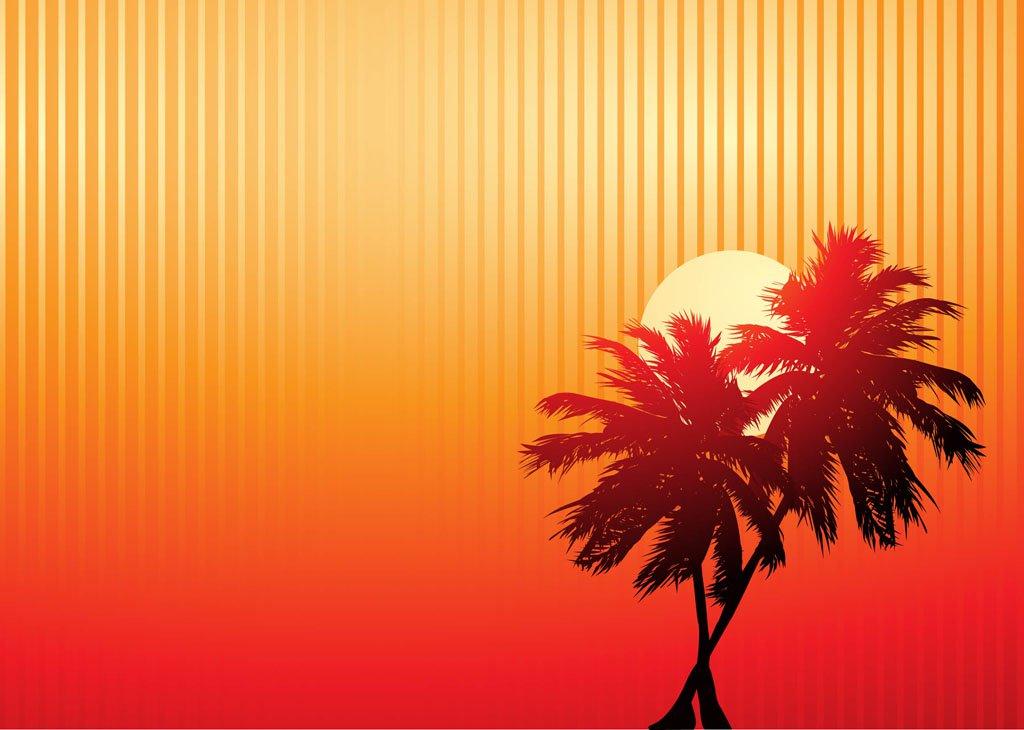 1024x730 Palm Trees Sunset Vector Art Amp Graphics