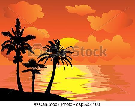450x357 Palm Trees Island