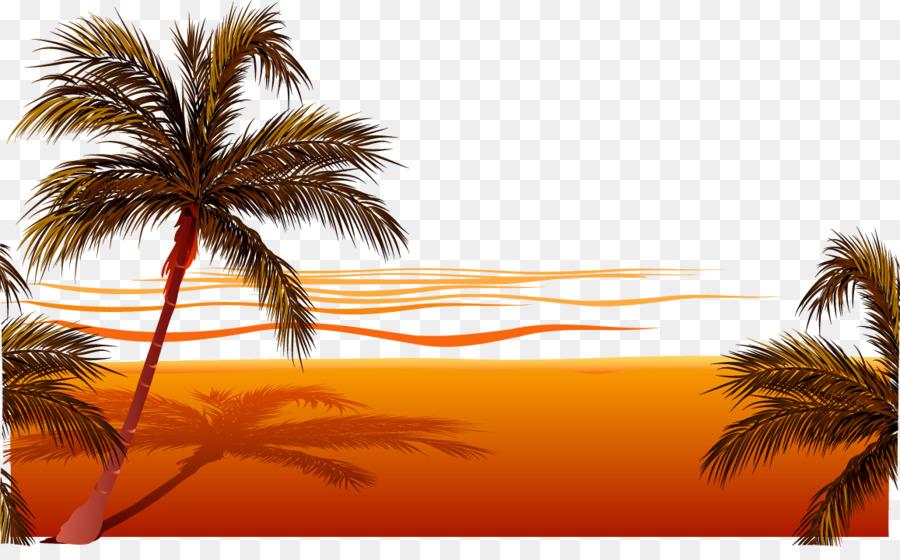 900x560 Beach Sunset Clip Art