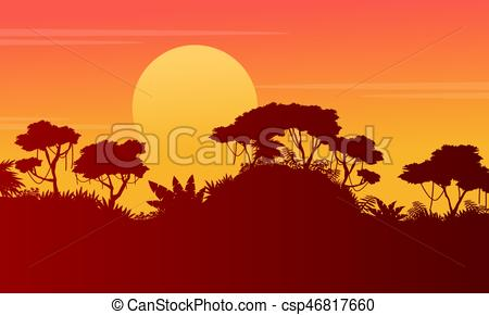 450x290 Silhouette Forest Scenery
