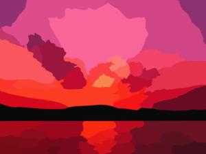 300x225 Sunroy Sunset Vector Clip Art