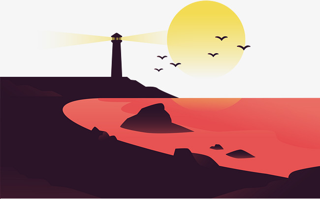 650x404 The Beach Is Sunset, Vector Png, Seaside Beauty, Sunset Png And