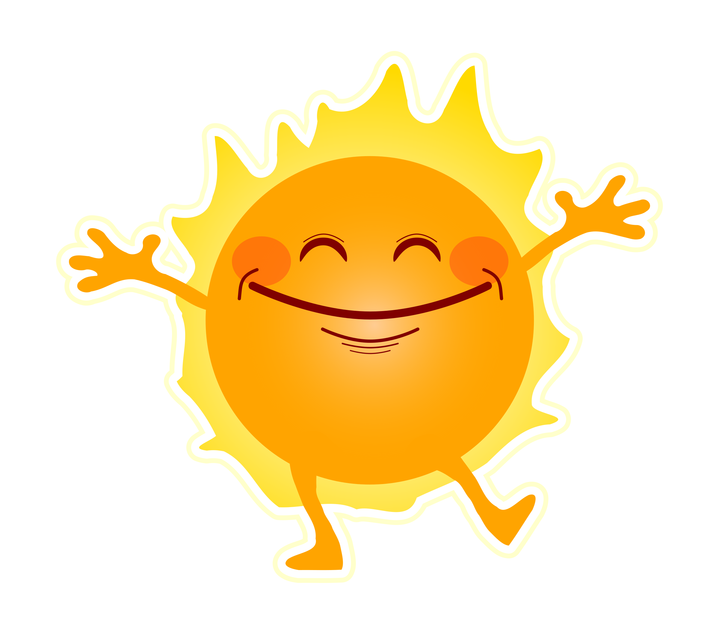 2400x2092 Happy Sunshine Vector Clipart Image
