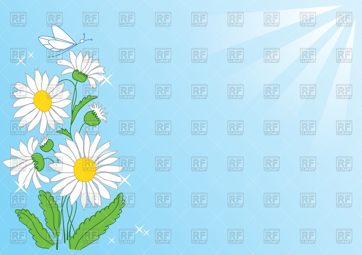 1200x846 Summer Background With Camomile Under Sunshine Vector Image