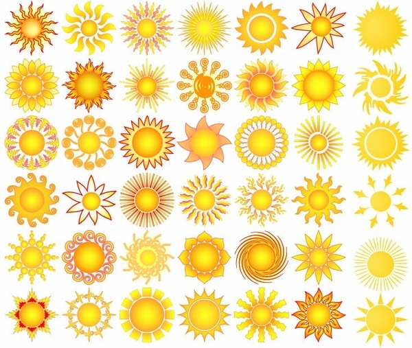 600x507 Sun Elements Collection Vector Free Vector In Encapsulated