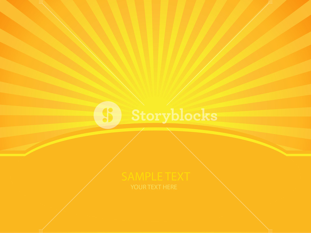 1000x750 Sunshine Vector Royalty Free Stock Image