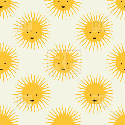 400x400 Childish Seamless Pattern With Cartoon Sun Vector Image Vector
