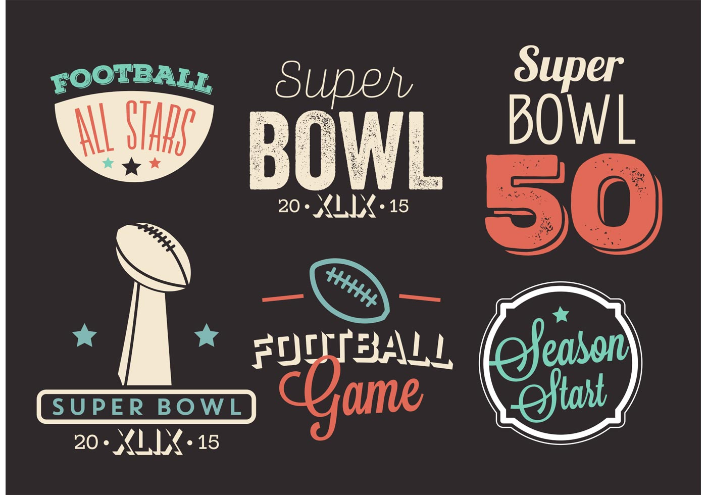 1400x980 Super Bowl Free Vector Art