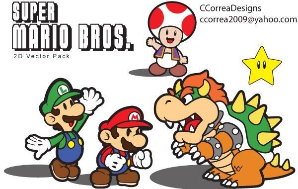 600x380 Super Mario Vector Pack