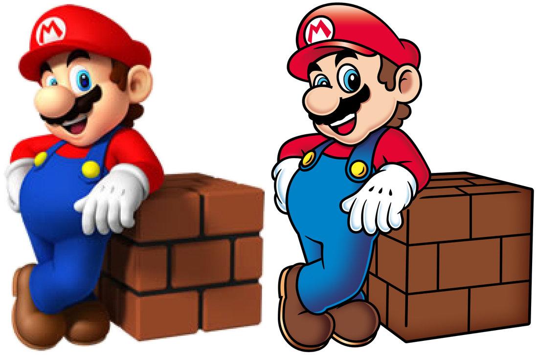 1098x727 Super Mario Vector By Calicostonewolf
