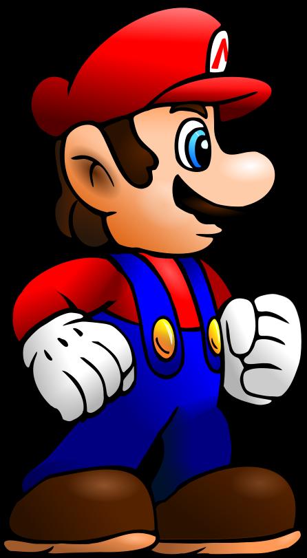 446x811 Super Mario Vector By Cyberguy64
