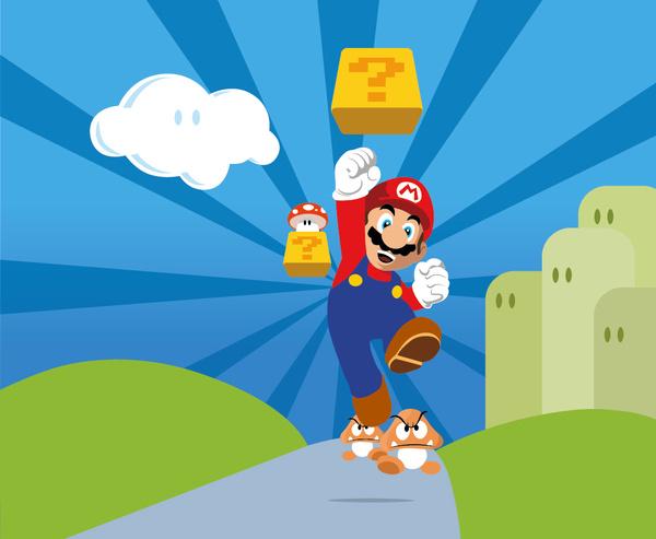 600x493 Super Mario Free Vector In Adobe Illustrator Ai ( .ai ) Vector