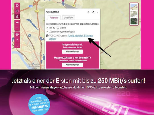 540x405 Super Vectoring Ausbau Der Telekom Abfragbar